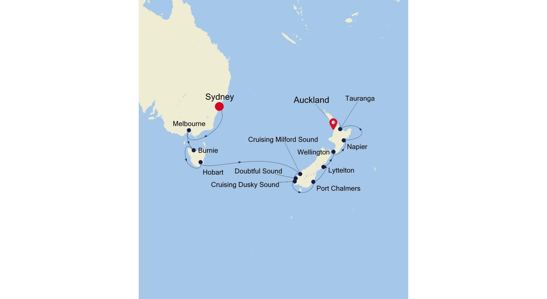 6002 - Sydney a Auckland