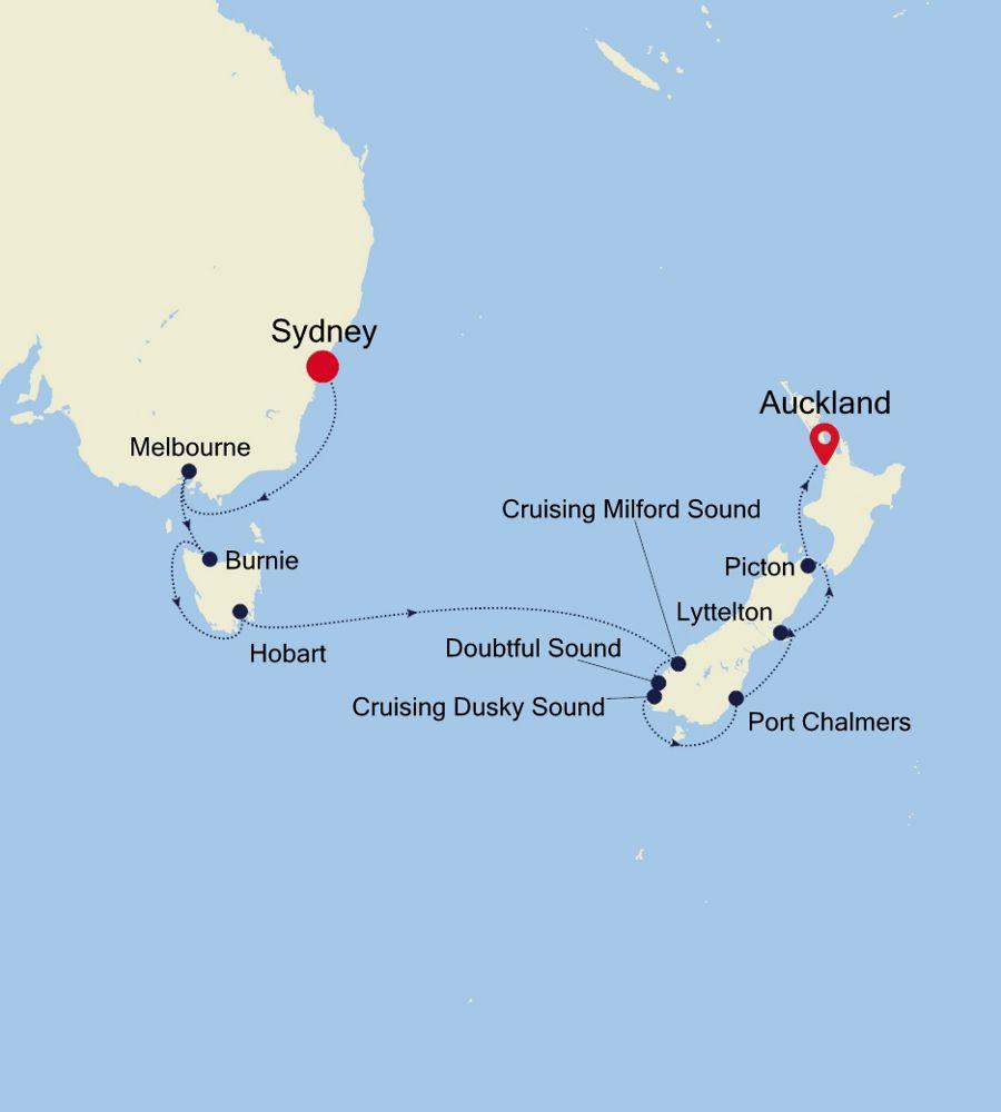 6005 - Sydney a Auckland