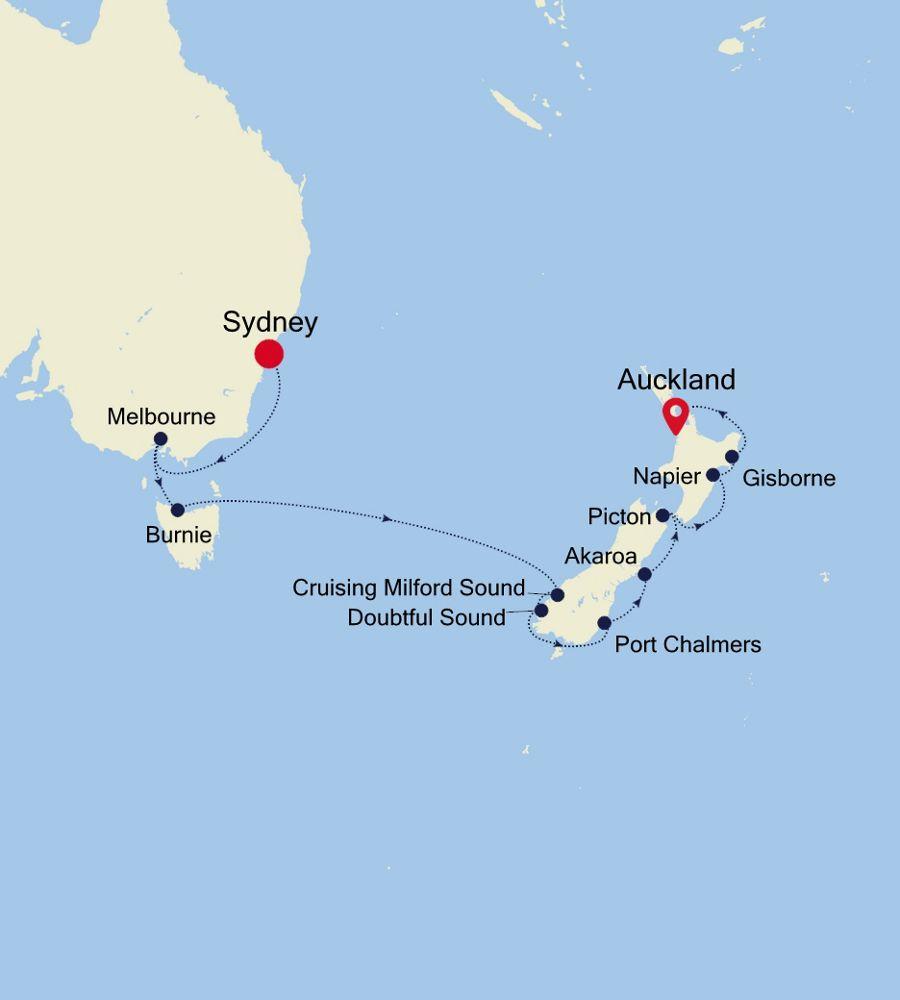 6901 - Sydney a Auckland
