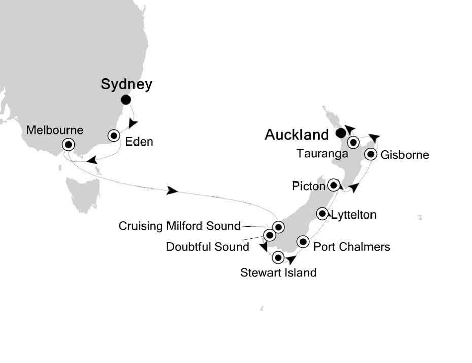 6903 - Sydney a Auckland
