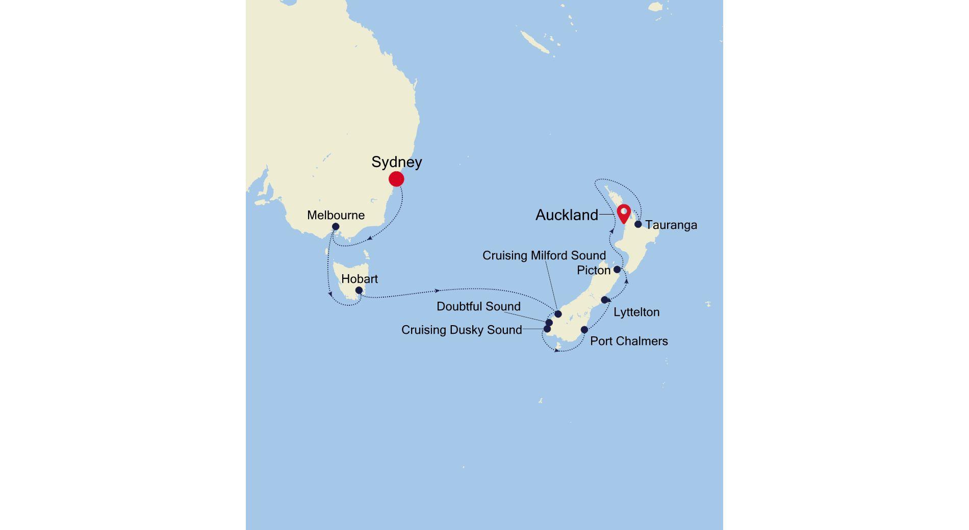 6931 - Sydney a Auckland
