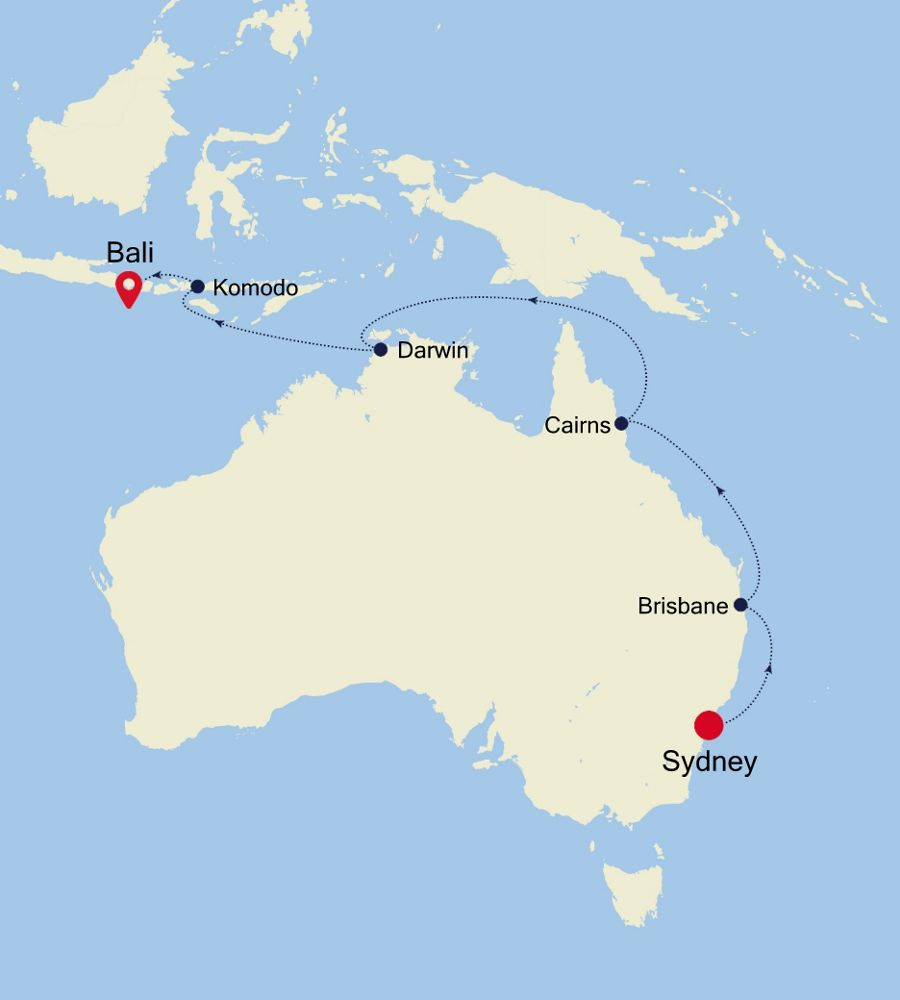 4903 - Sydney nach Bali