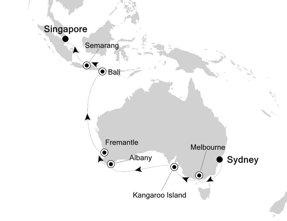 4005 - Sydney a Singapore
