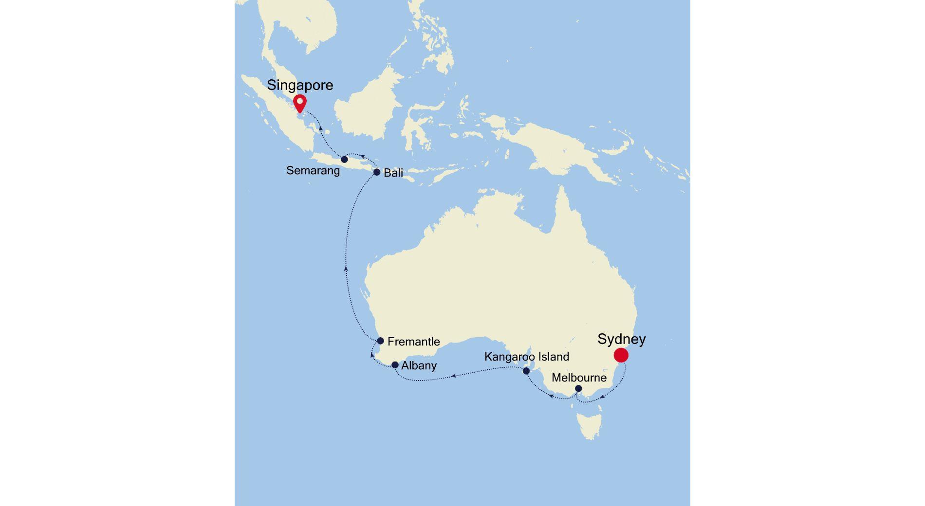 4005 - Sydney nach Singapore