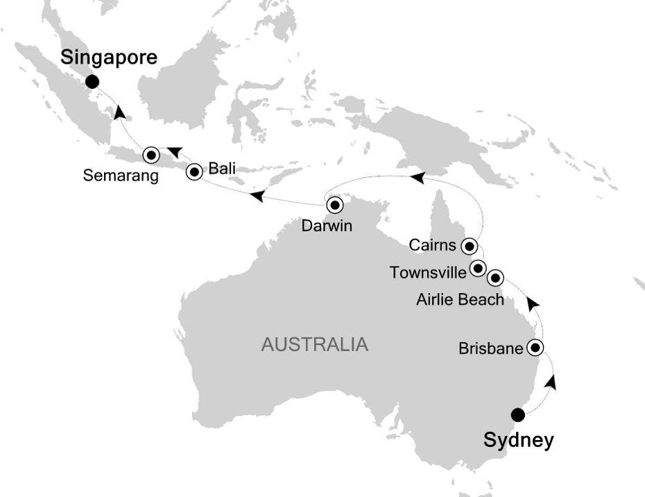 6007 - Sydney à Singapore