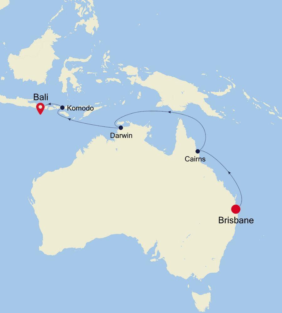 4903A - Brisbane a Bali