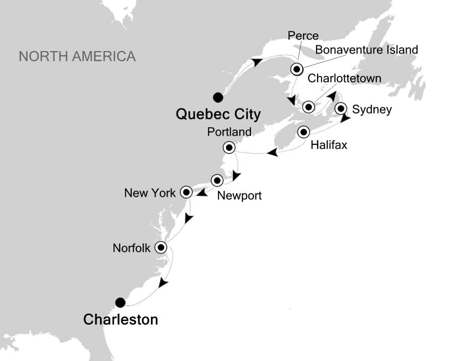 1922A - Quebec City nach Charleston