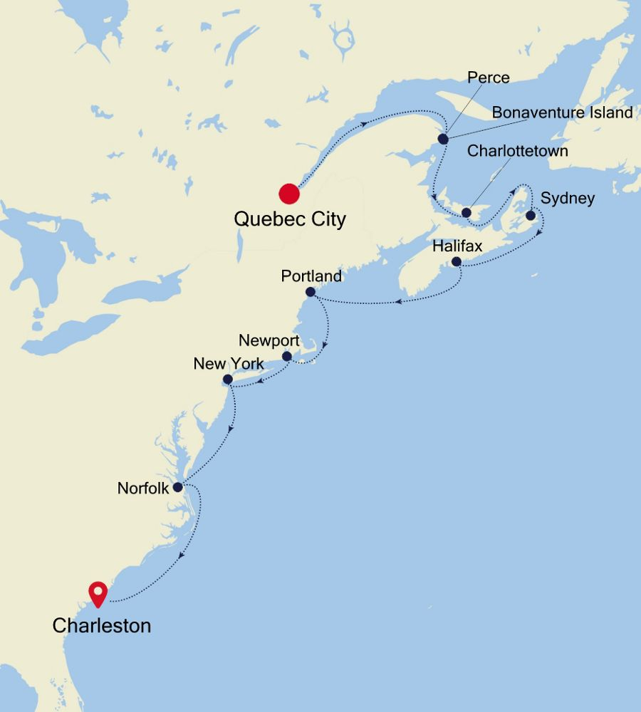 1922A - Quebec City to Charleston