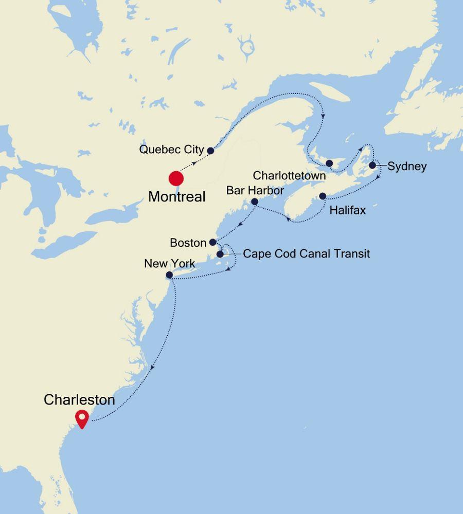 2930 - Montreal a Charleston