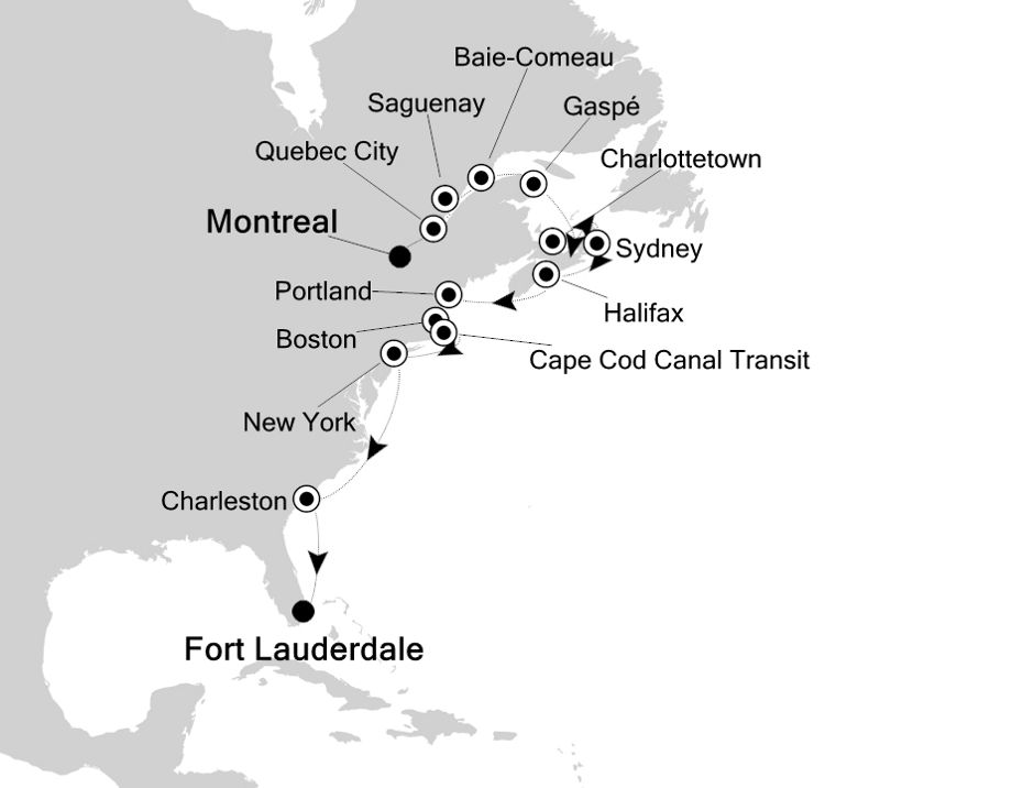 2833 - Montreal nach Fort Lauderdale