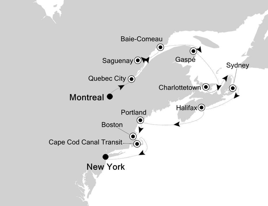 2833D - Montreal nach New York