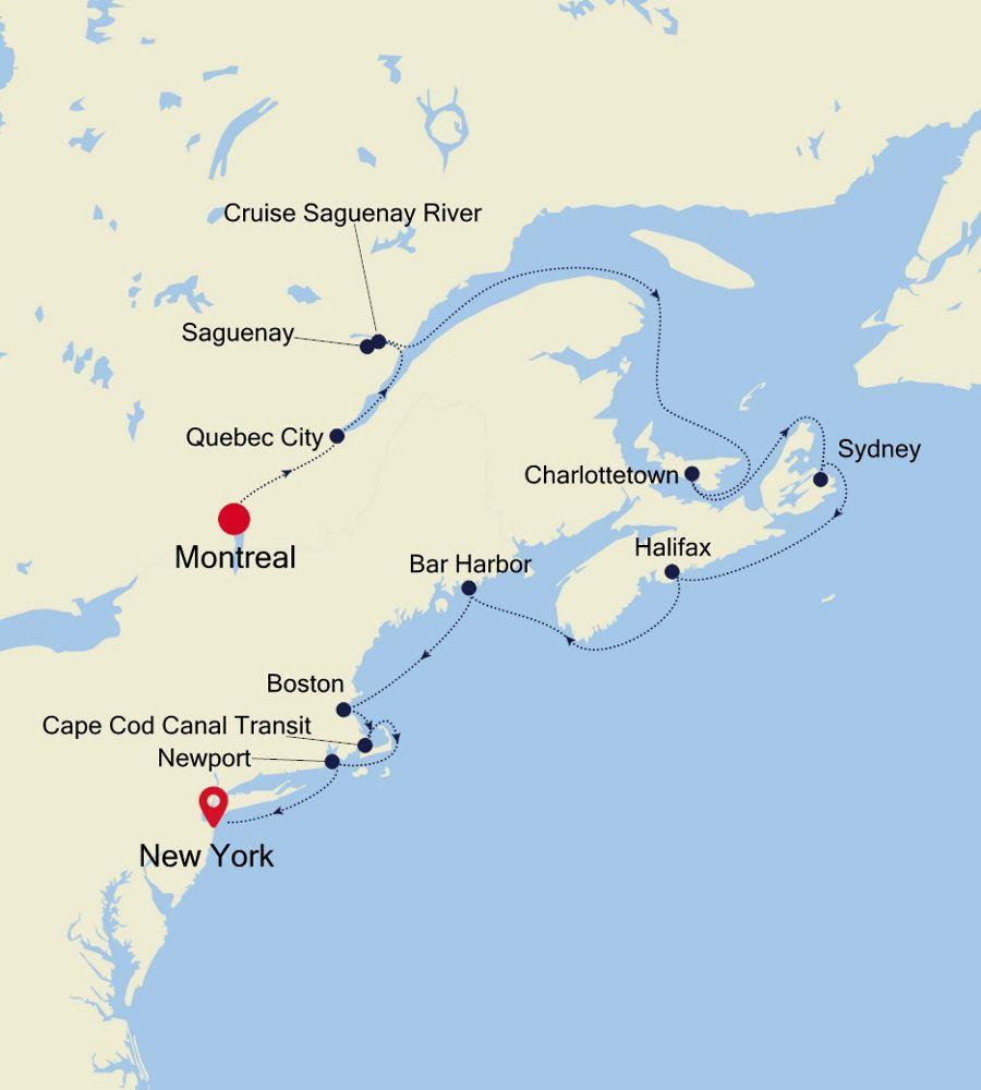 4927 - Montreal nach New York