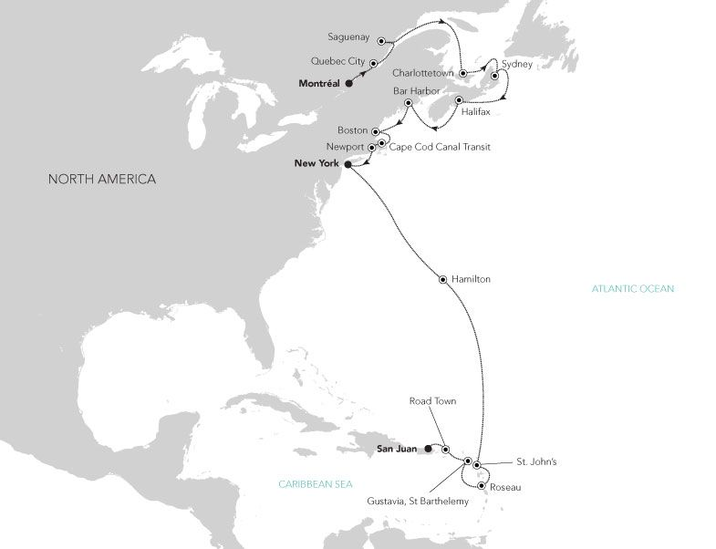 C4927 - New England and Caribbean
