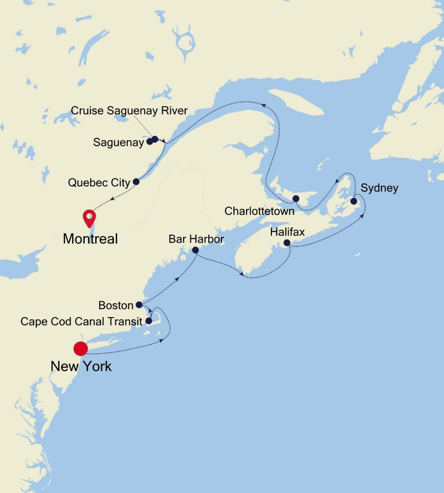 2927 - New York nach Montreal