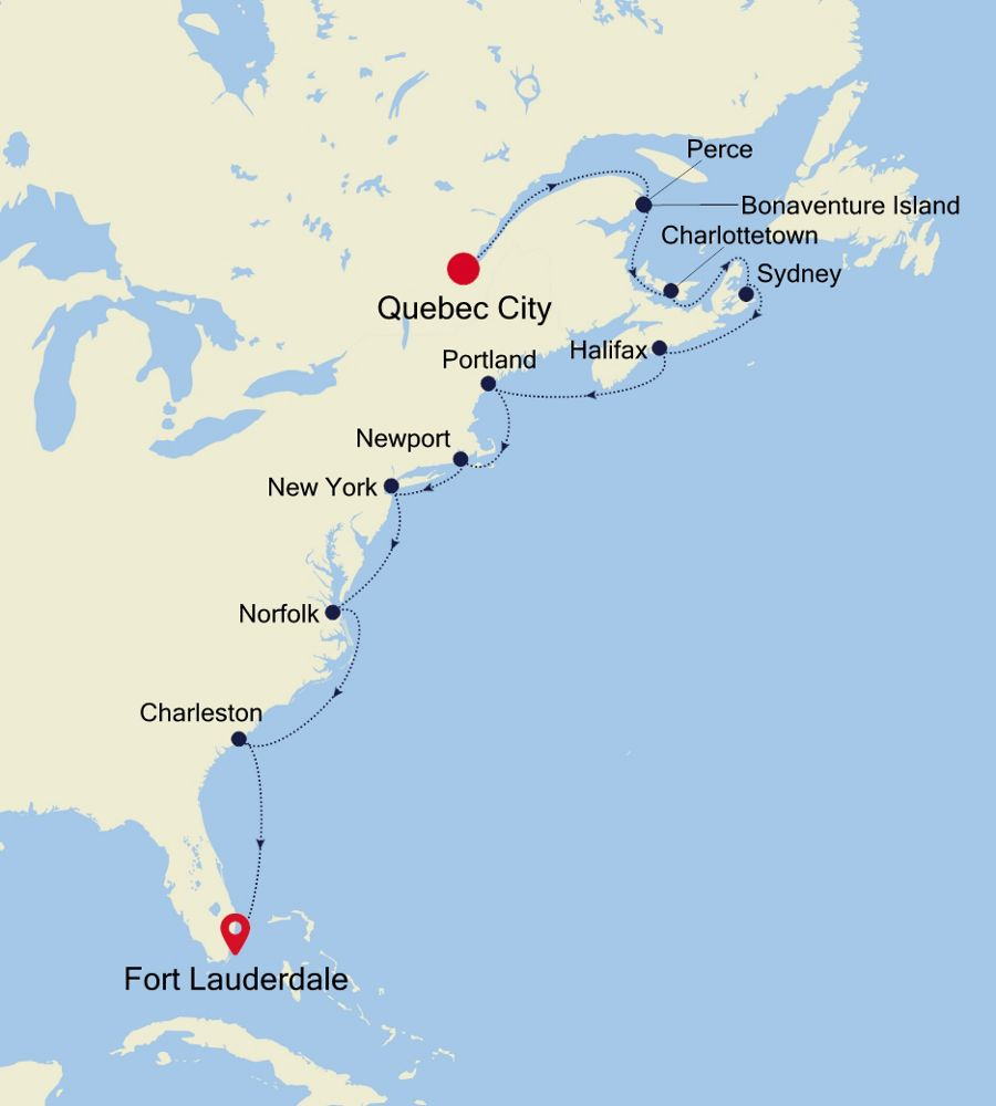 1922 - Quebec City to Fort Lauderdale