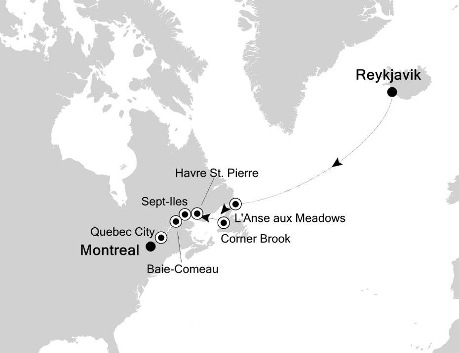 2830 - Reykjavik a Montreal
