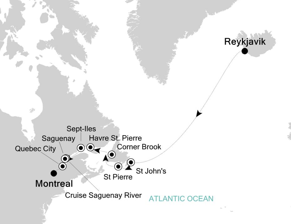 2925 - Reykjavik nach Montreal