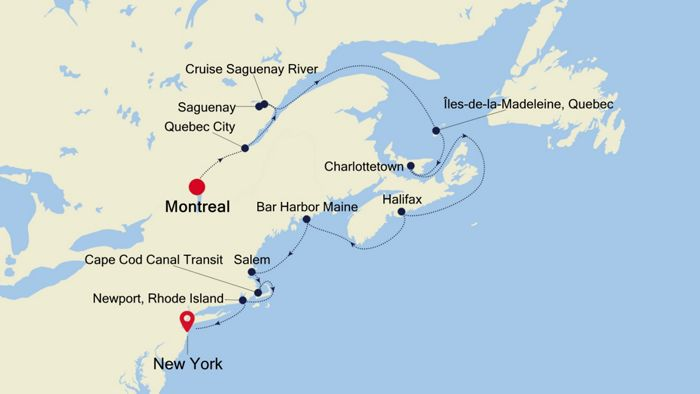 Cruises From New York 2020.Luxury Cruise From Montreal To New York 05 Oct 2020 Silversea