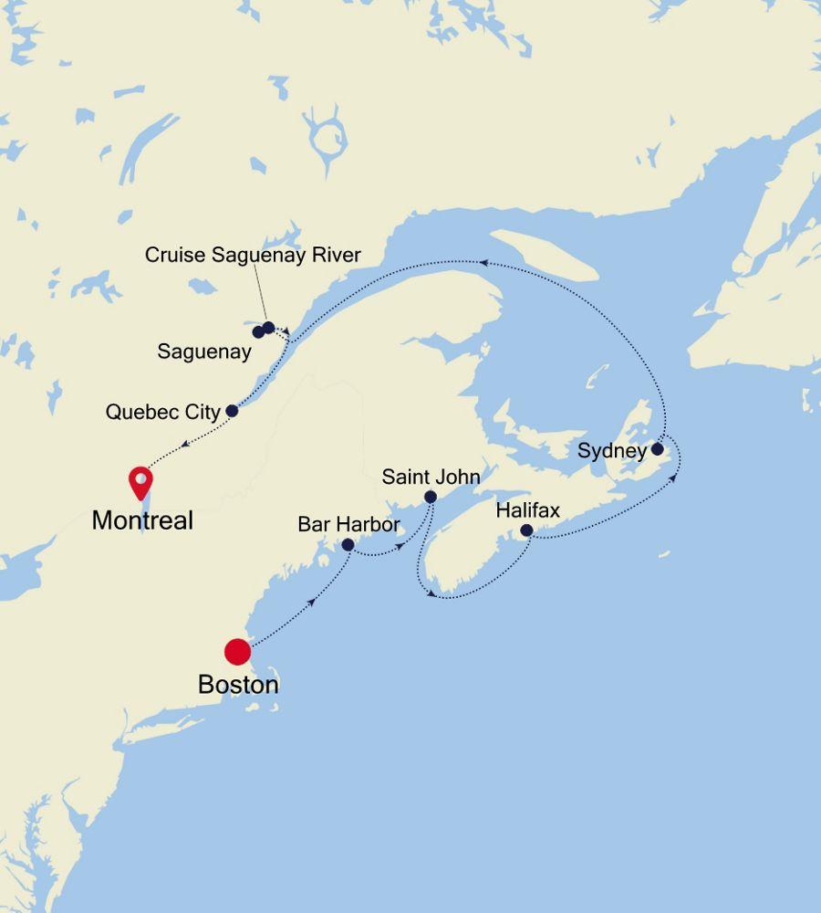 2929A - Boston to Montreal