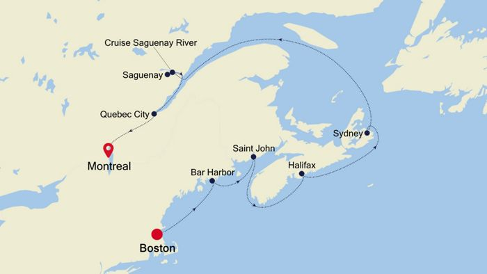 Luxury Cruise from BOSTON MASSACHUSETTS to MONTREAL 20 ...