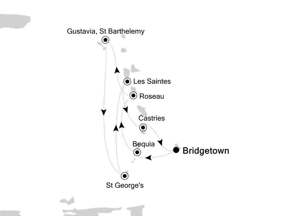 2836 - Bridgetown nach Bridgetown