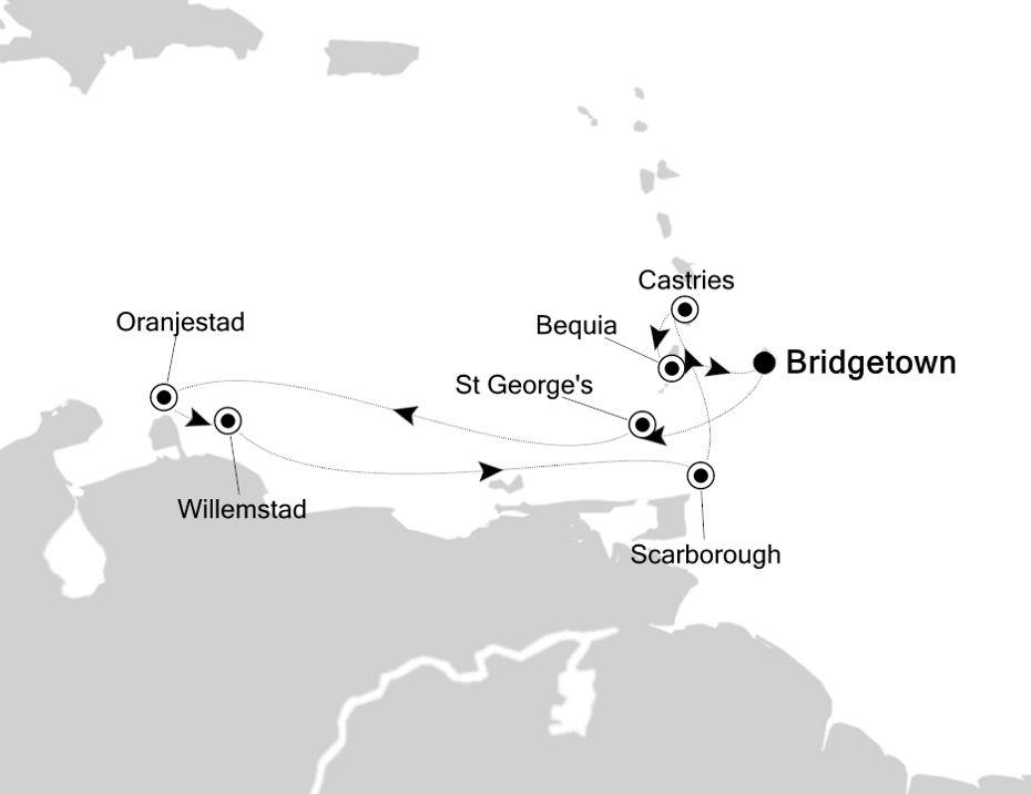 2901 - Bridgetown nach Bridgetown