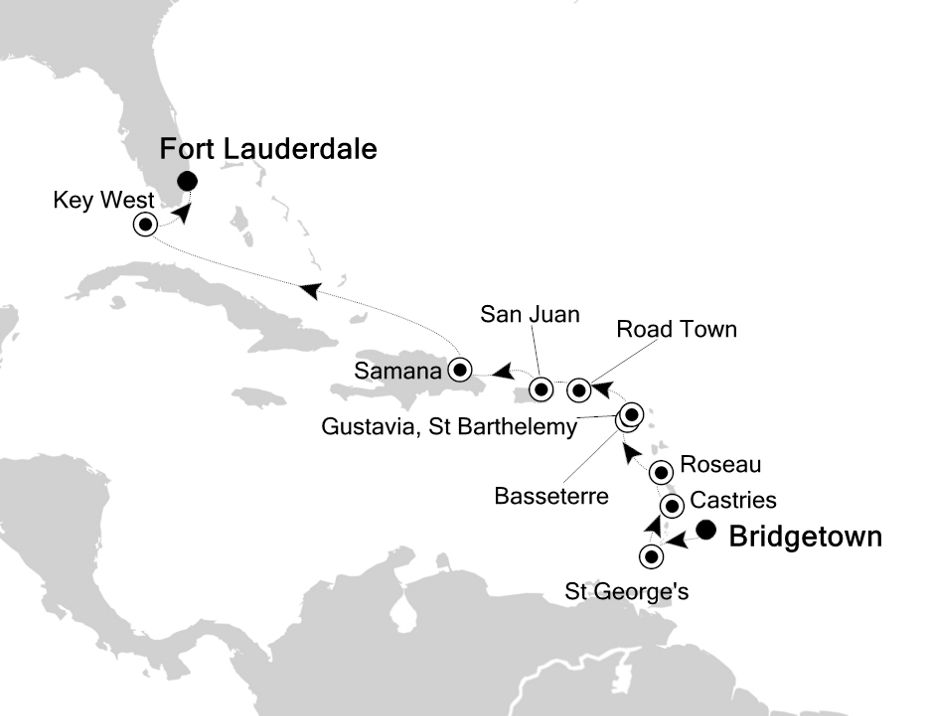 5831 - Bridgetown to Fort Lauderdale