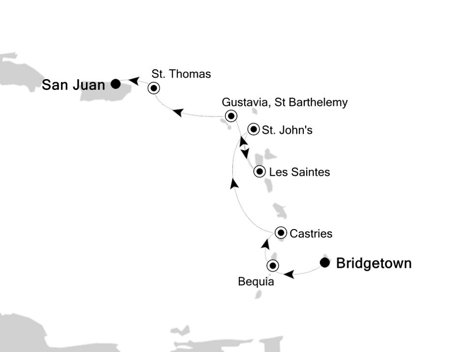 2909 - Bridgetown à San Juan