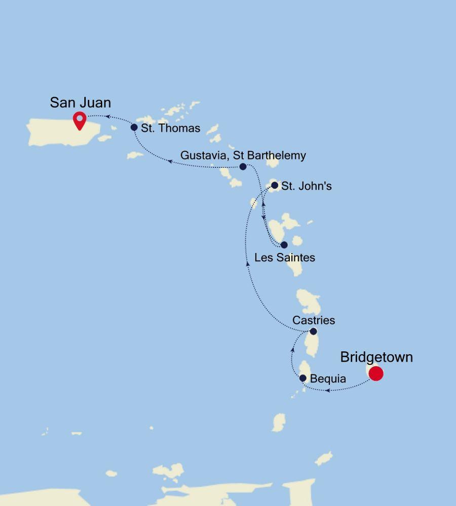 2909 - Bridgetown to San Juan