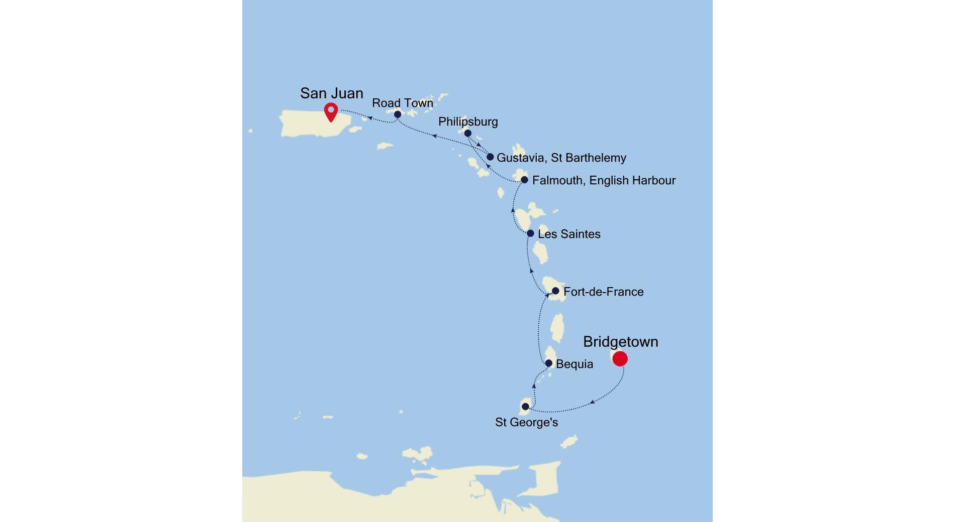 2932 - Bridgetown nach San Juan