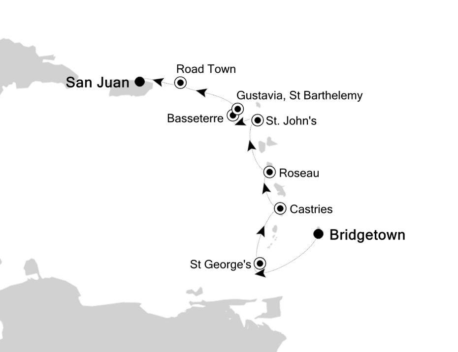 4831A - Bridgetown to San Juan
