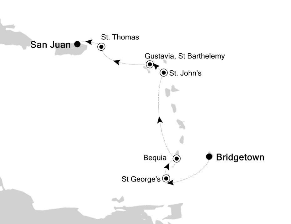 6806B - Bridgetown to San Juan