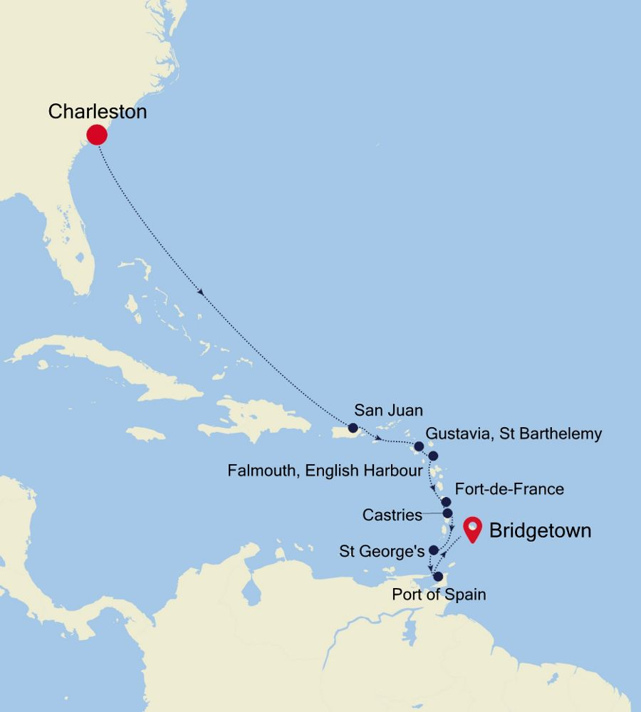 2931 - Charleston nach Bridgetown