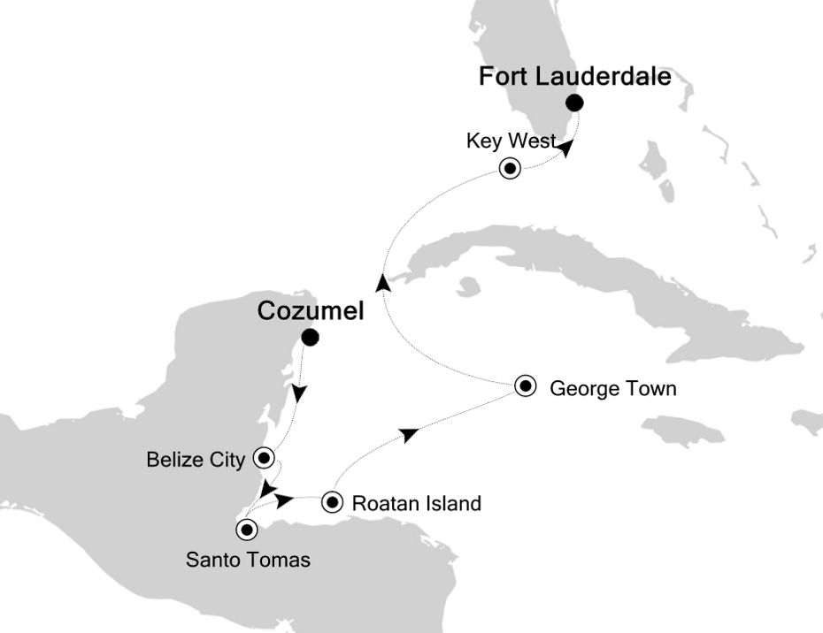 5833A - Cozumel nach Fort Lauderdale