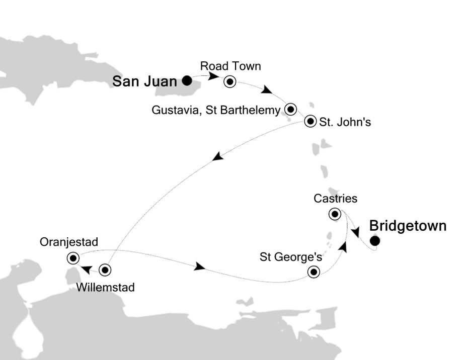 3937 - San Juan a Bridgetown
