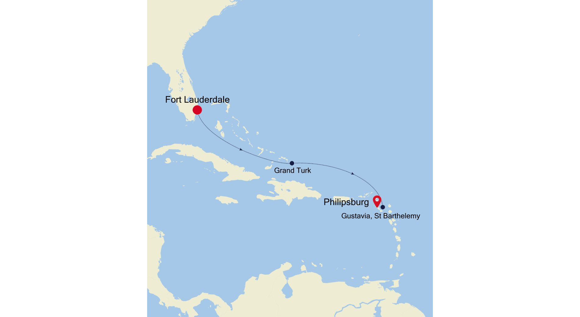 3934C - Fort Lauderdale to Philipsburg