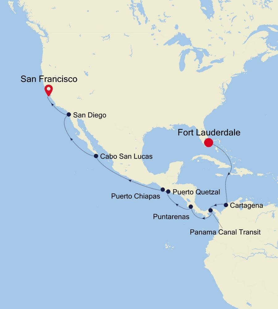 4832 - Fort Lauderdale a San Francisco
