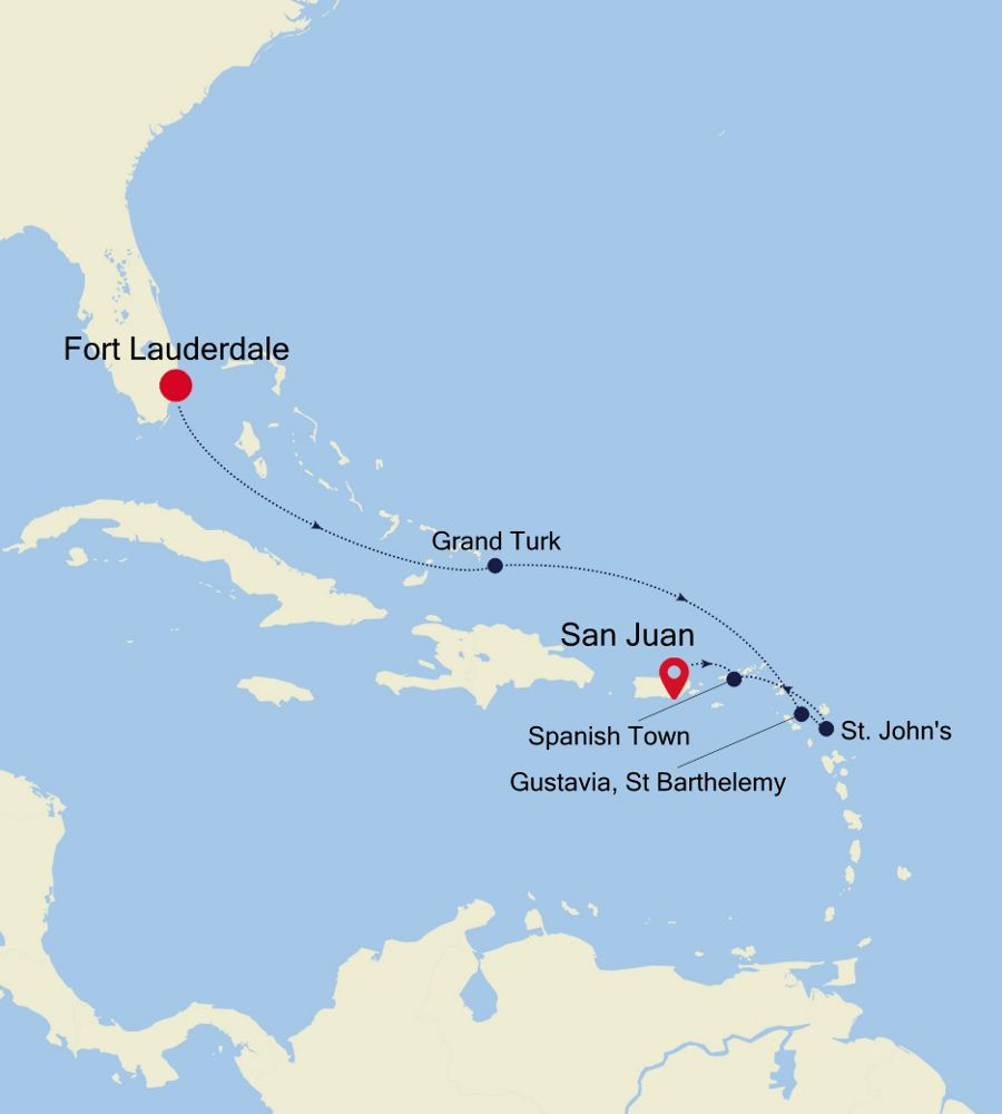 2905 - Fort Lauderdale a San Juan