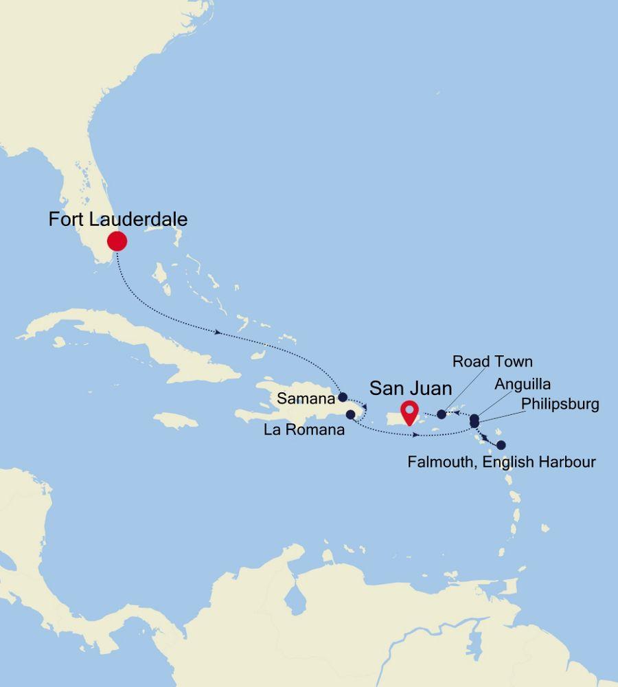 2907 - Fort Lauderdale a San Juan