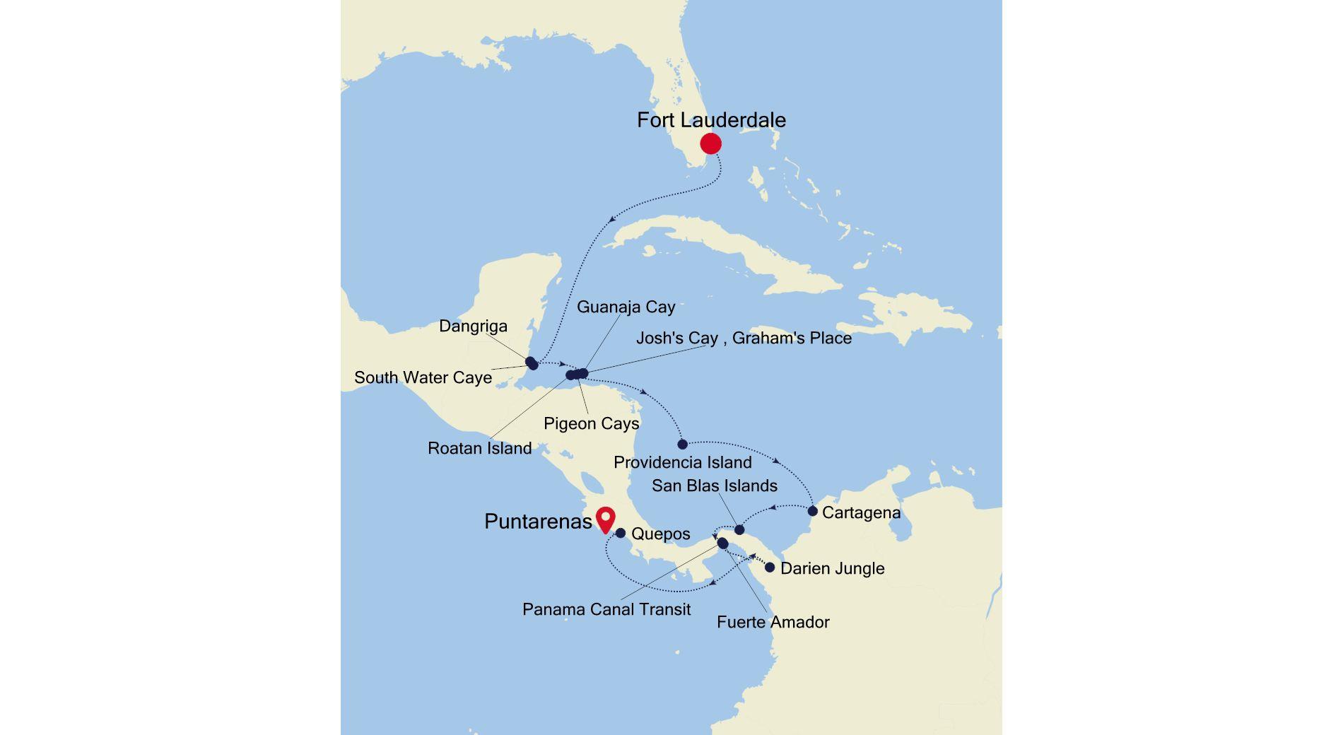 7919 - Fort Lauderdale a Puntarenas