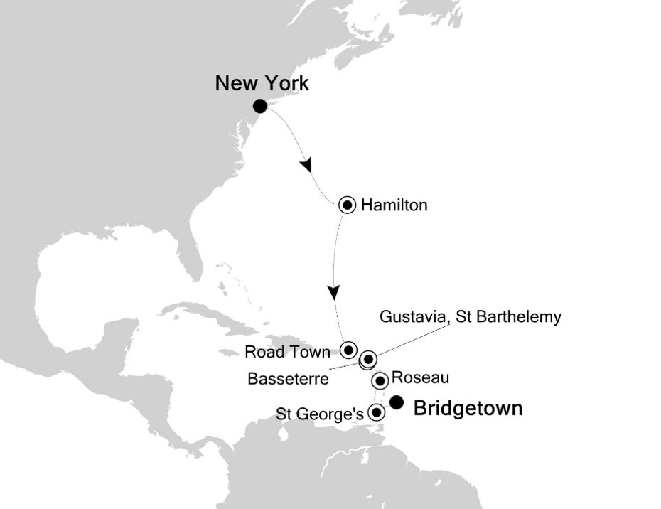 5830 - New York to Bridgetown