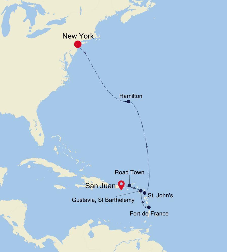 4928 - New York nach San Juan