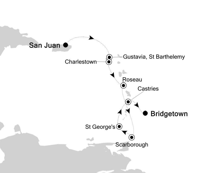 2908 - San Juan nach Bridgetown