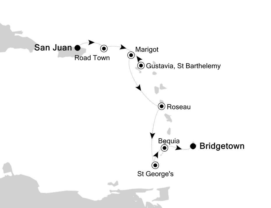 5908 - San Juan a Bridgetown