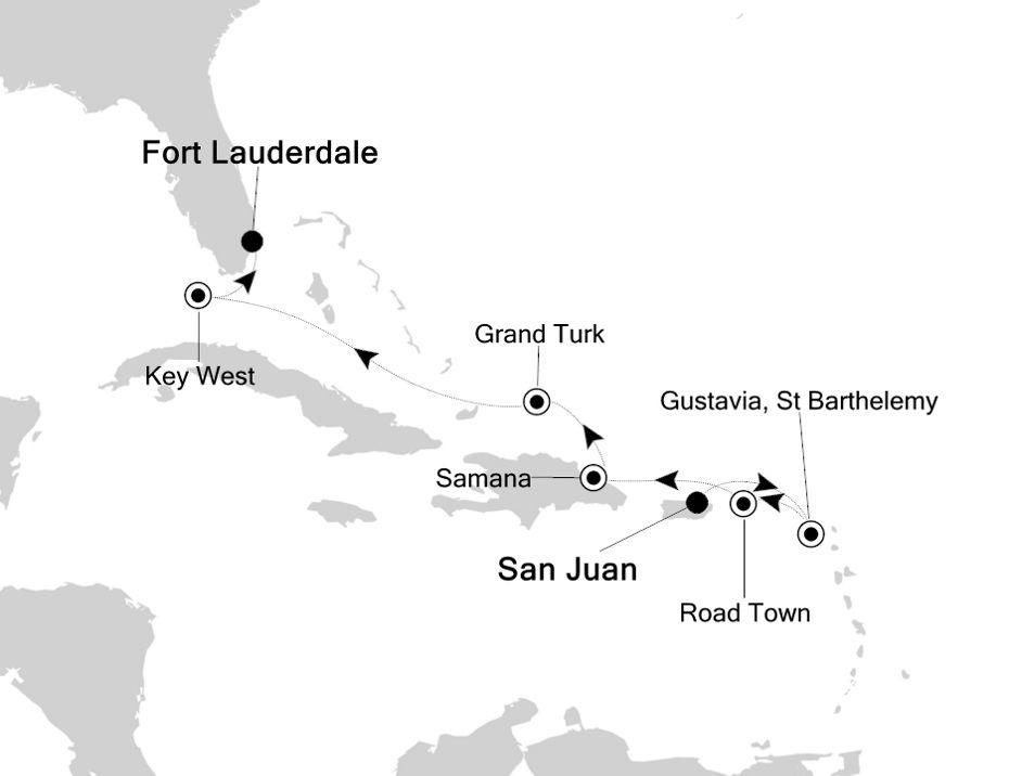2812 - San Juan à Fort Lauderdale