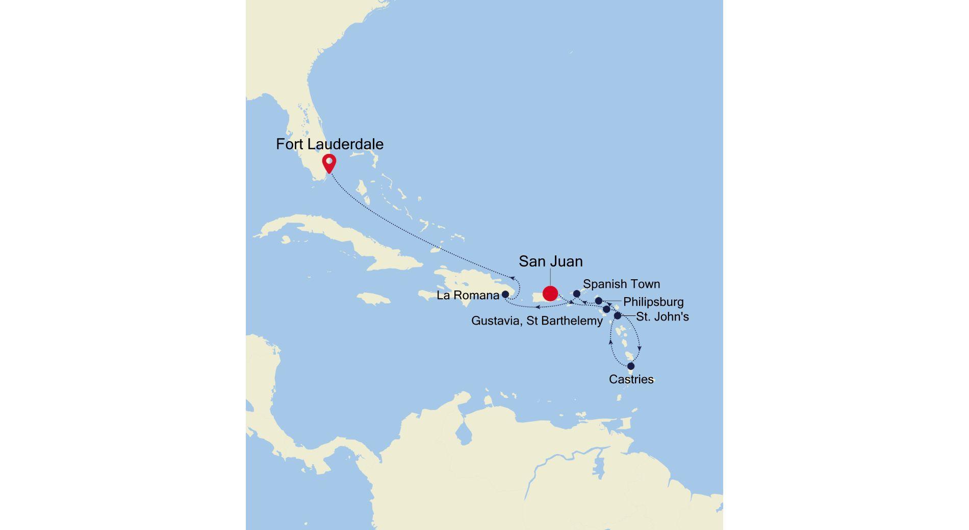 2934 - San Juan à Fort Lauderdale
