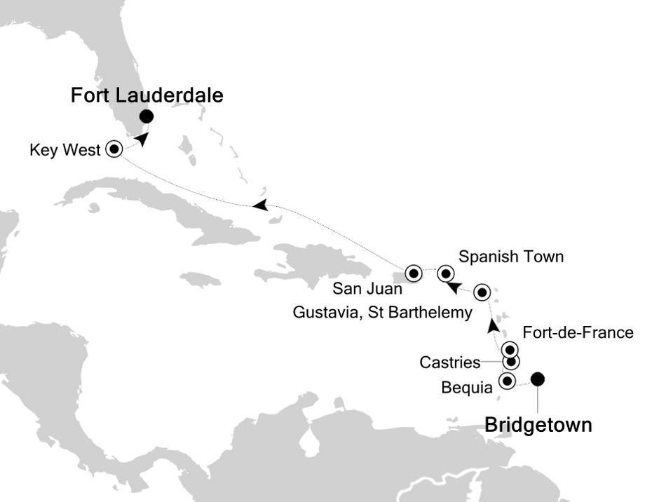 SS200114010 - Bridgetown nach Fort Lauderdale
