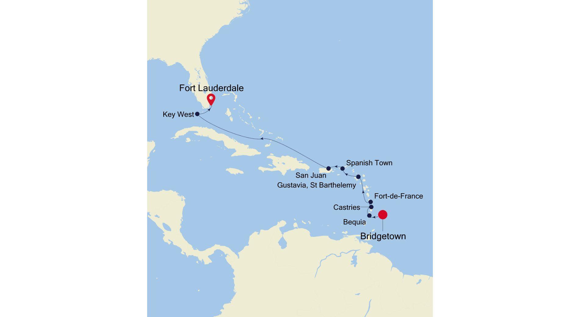 SS200114010 - Bridgetown à Fort Lauderdale