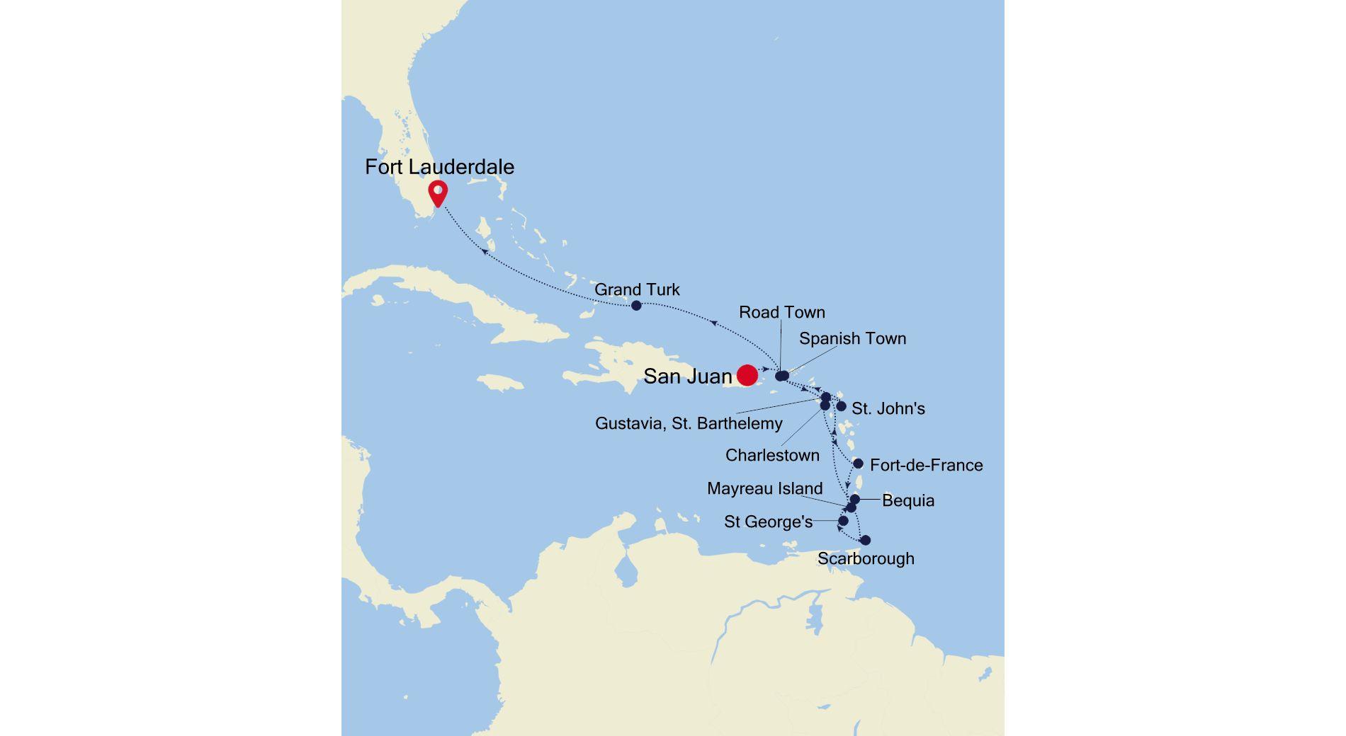 SS201204014 - San Juan à Fort Lauderdale