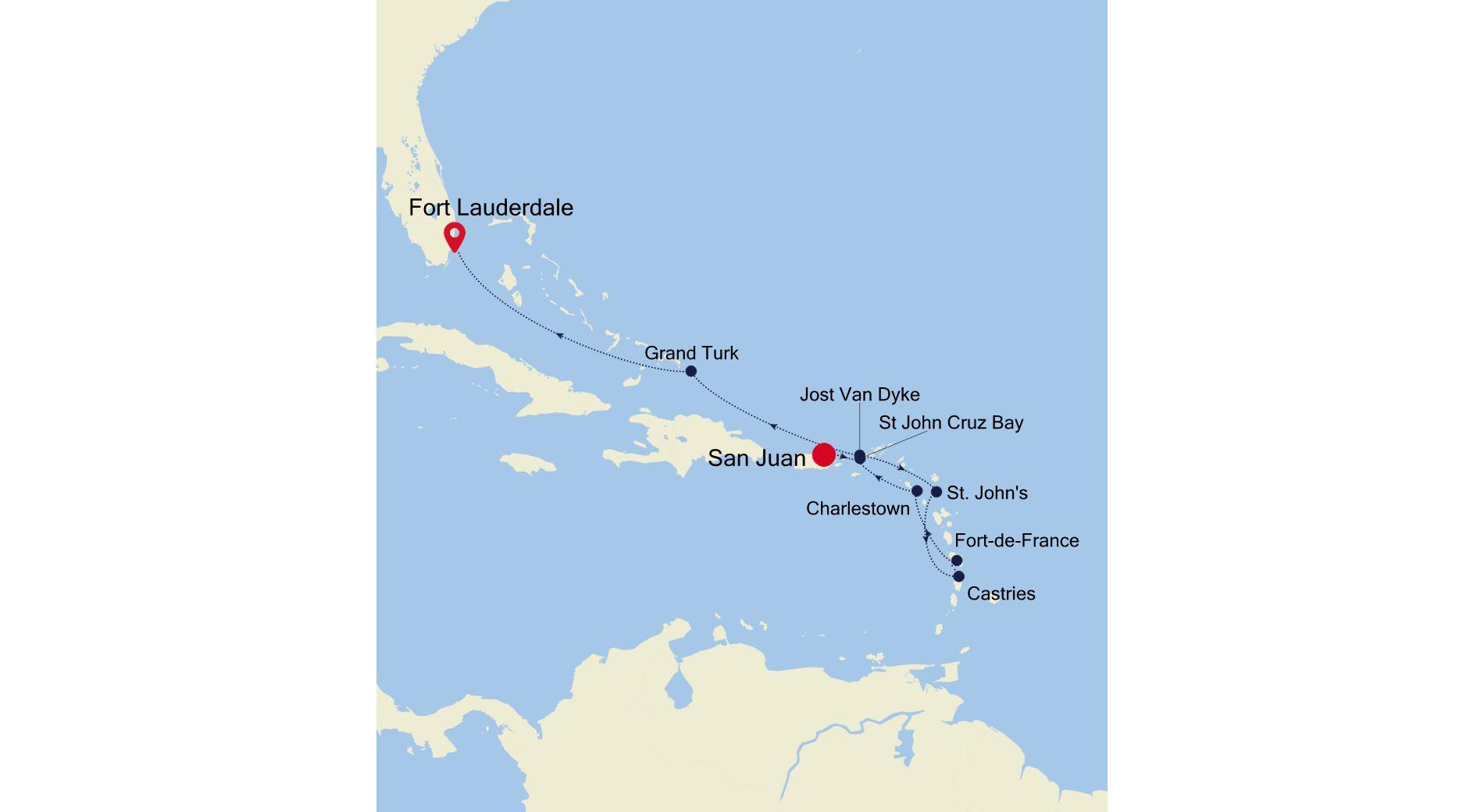 SS210108010 - San Juan a Fort Lauderdale